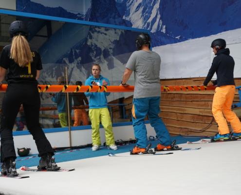 skiën op de indoorrolbaan